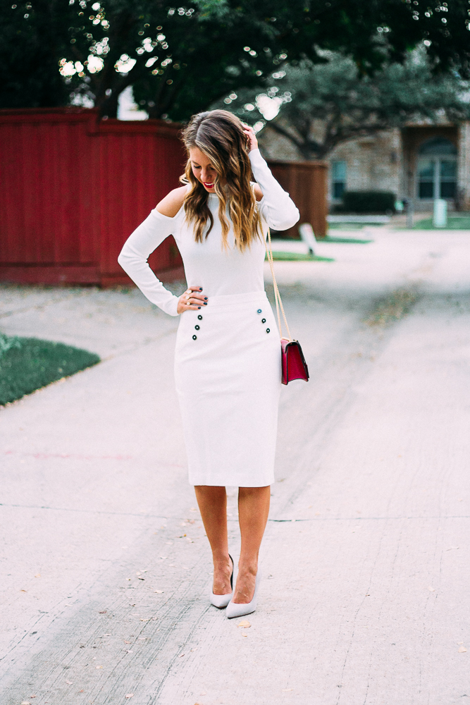 winter white pencil skirt