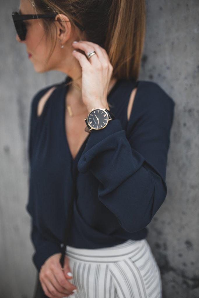cutout blouse fashion blogger