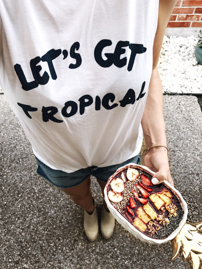 lets get tropical tank and acai bowl