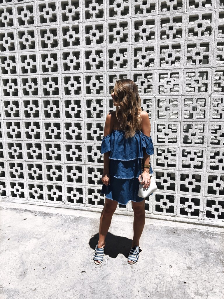 denim ruffle dress forever 21