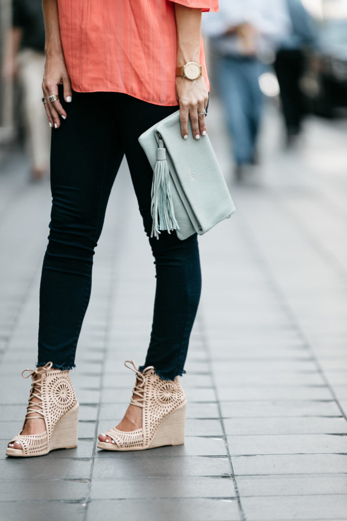 fringe clutch and wedges