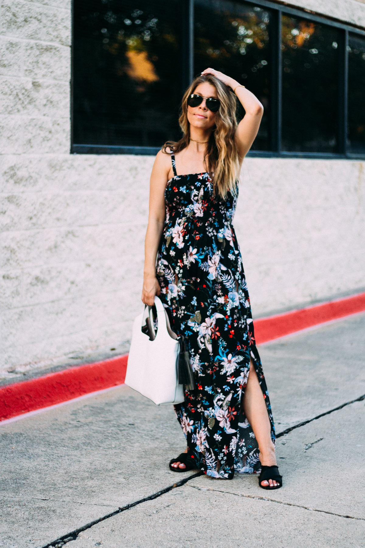 black floral maxi dress marks and spencer