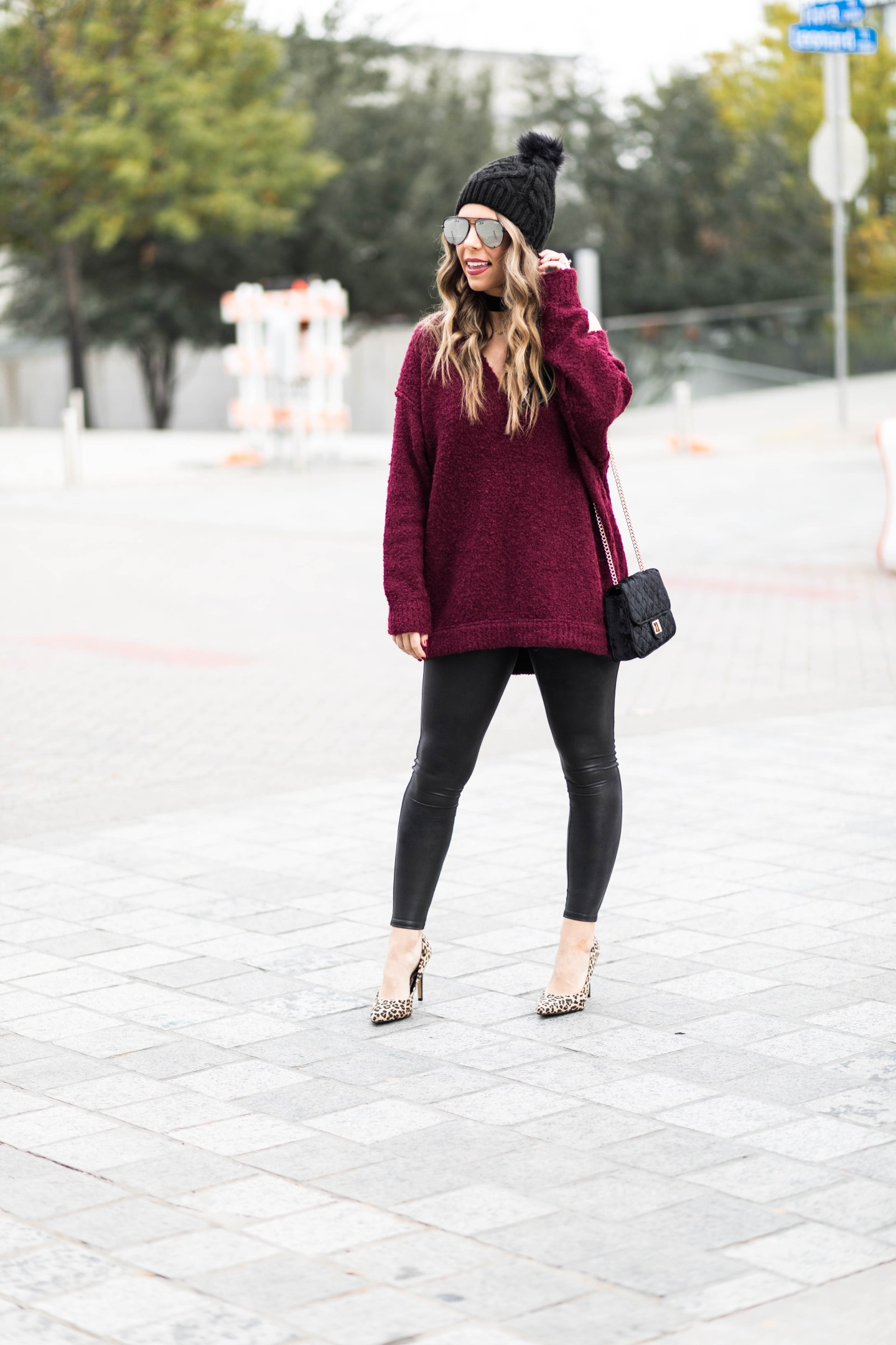 Chic at Every Age oversized v-neck sweater