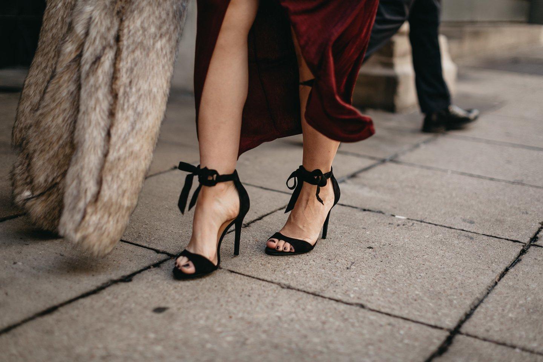 lace up velvet heels