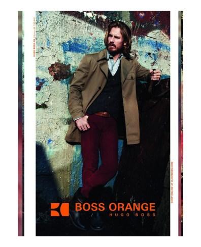 3fa177ae1 Hugo Boss Favorite Ryan Burns Steps Out for Boss Orange Fall/Winter 2012  Campaign