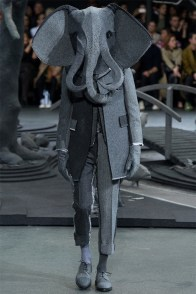 An animal motif is front and center for Thom Browne's fall-winter 2014 runway show.