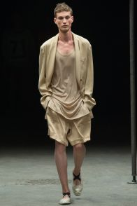 Johannes Linder walks for Dries Van Noten during Paris Fashion week.