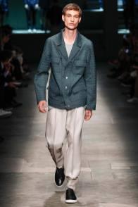 Johannes Linder walks for Ermenegildo Zegna during Milan Fashion Week.