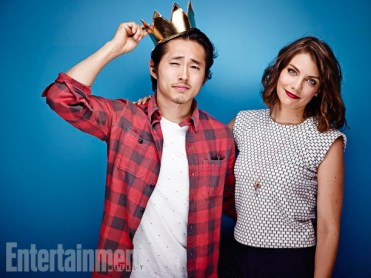 Did Steven Yeun married Lauren Cohan from The Walking Dead ... |Lauren Cohan And Steven Yeun 2014