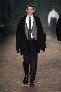 Ermenegildo Zegna Couture unveils its Eco-Leader uniform for fall-winter 2015.