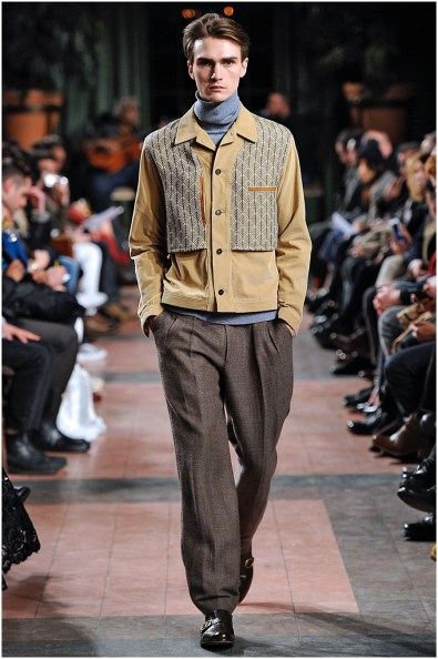 Make room for Billy Reid with roomy, luxurious trousers cut large in tweed. The designer showed plenty of viable options for his fall 2015 collection.