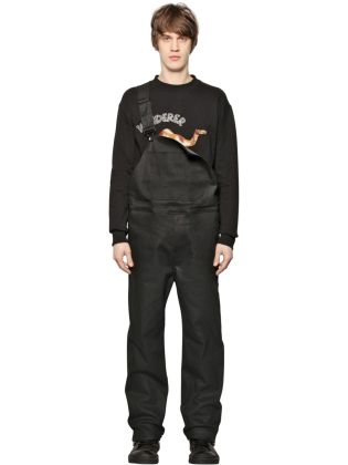 D by D Men's Coated Denim Overalls