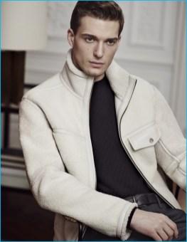 Model Nikolaj Jovanovic for Ermenegildo Zegna's fall-winter 2016 catalogue.
