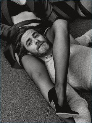 Chris Pine appears before photographer Craig McDean for W magazine.
