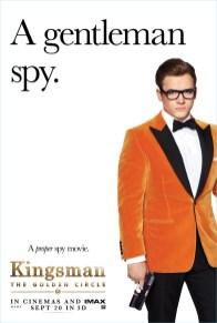 Kingsman The Golden Circle Poster Taron Egerton Agent Galahad Style