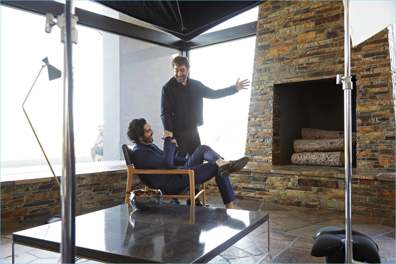 ... Javier Bardem and Dev Patel connect for Ermenegildo Zegna s spring-summer  2018 campaign. Behind-the-Scenes-Ermenegildo-Zegna-Spring-Summer-2018- a214239bd6e