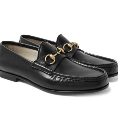 1f2a0de38ba9 Gucci – Leather-Trimmed Logo-Print Rubber Slides – Men – Black