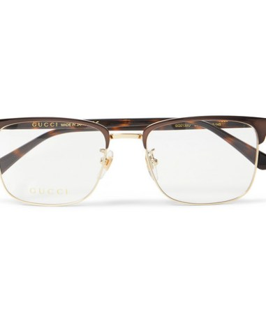 d1afad8a0c648 Gucci - Square-Frame Tortoiseshell Acetate and Gold-Tone Optical Glasses -  Men -