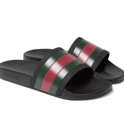 e95e4422c Gucci – Logo-Embossed Rubber Slides – Men – Tomato red