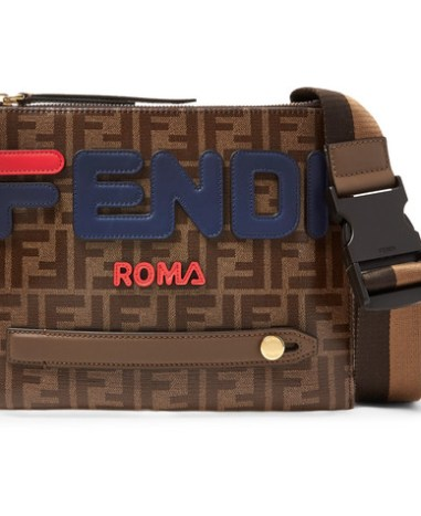 29da33b0c365 Fendi - Logo-Appliquéd Printed Coated-Canvas Messenger Bag - Men - Brown