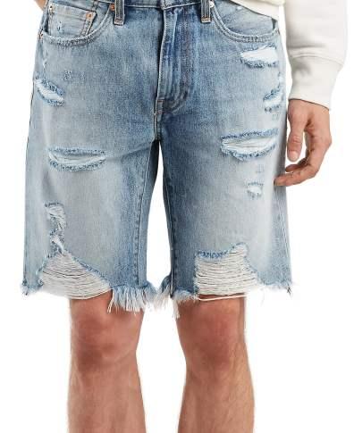 9c3ddac9 Men's Levi's 501 Pride Cutoff Denim Shorts, Size 28 – White   The ...