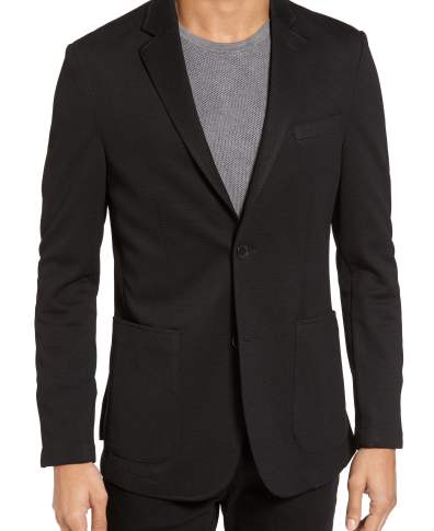 e78b10921684b5 Men's Vince Camuto Slim Fit Stretch Knit Sport Coat, Size Small - Black