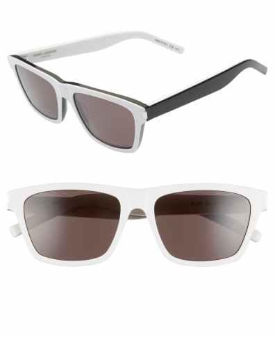 ab5042f9202 Men's Saint Laurent 56Mm Square Sunglasses – Gold | The Fashionisto