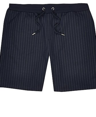 f38bd1b87 River Island Mens Navy pinstripe slim fit bomber jacket | The ...