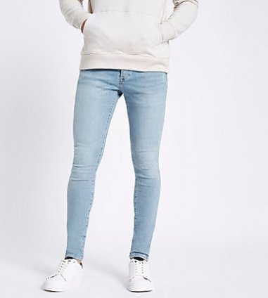 88ae6f5f08 River Island Mens Dark blue fade Sid skinny jeans | The Fashionisto