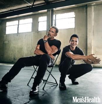 Arnold Schwarzenegger Gabriel Luna Mens Health 2019 Photo Shoot 001