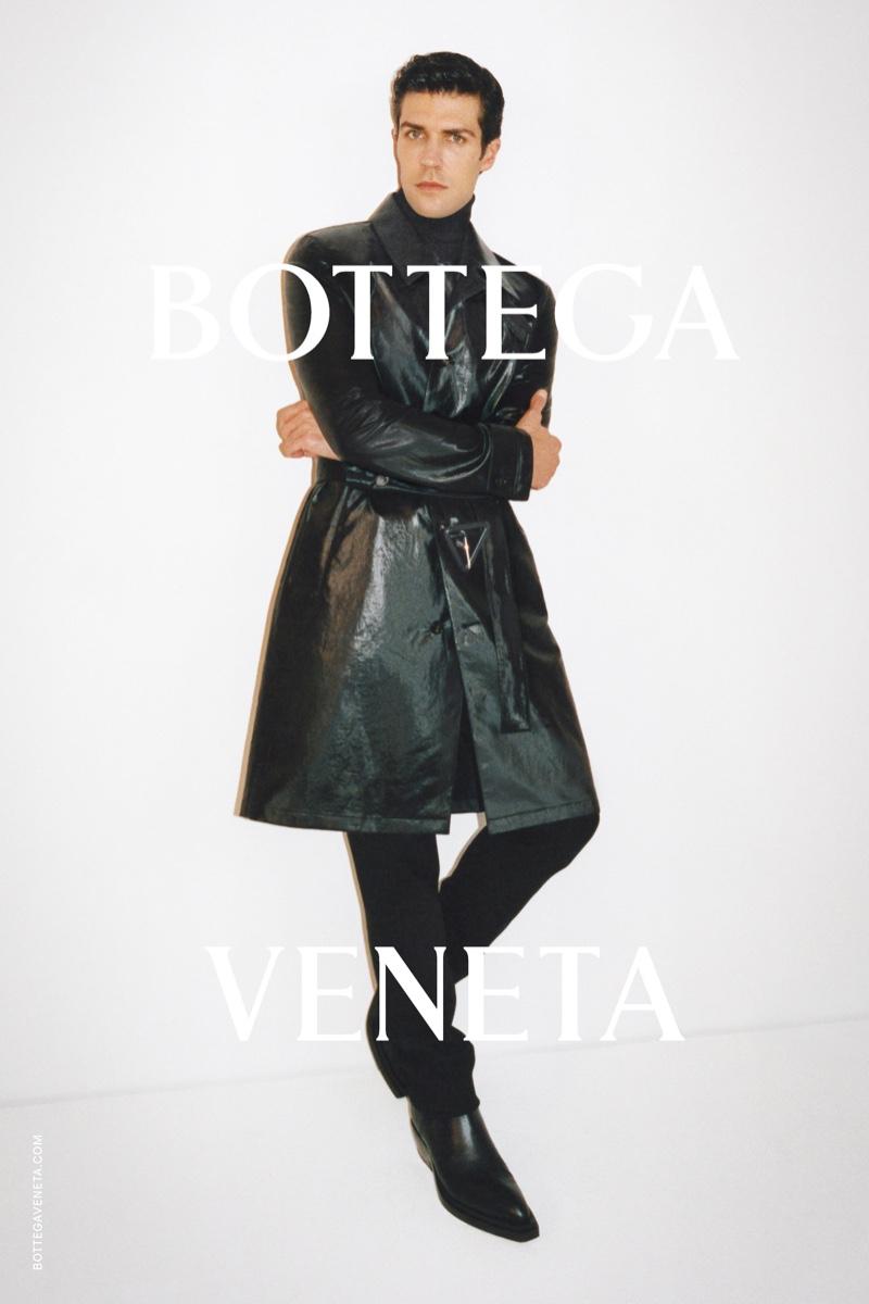 Dancer Roberto Bolle appears in Bottega Veneta's pre-fall 2021 Wardrobe 02 men's campaign.