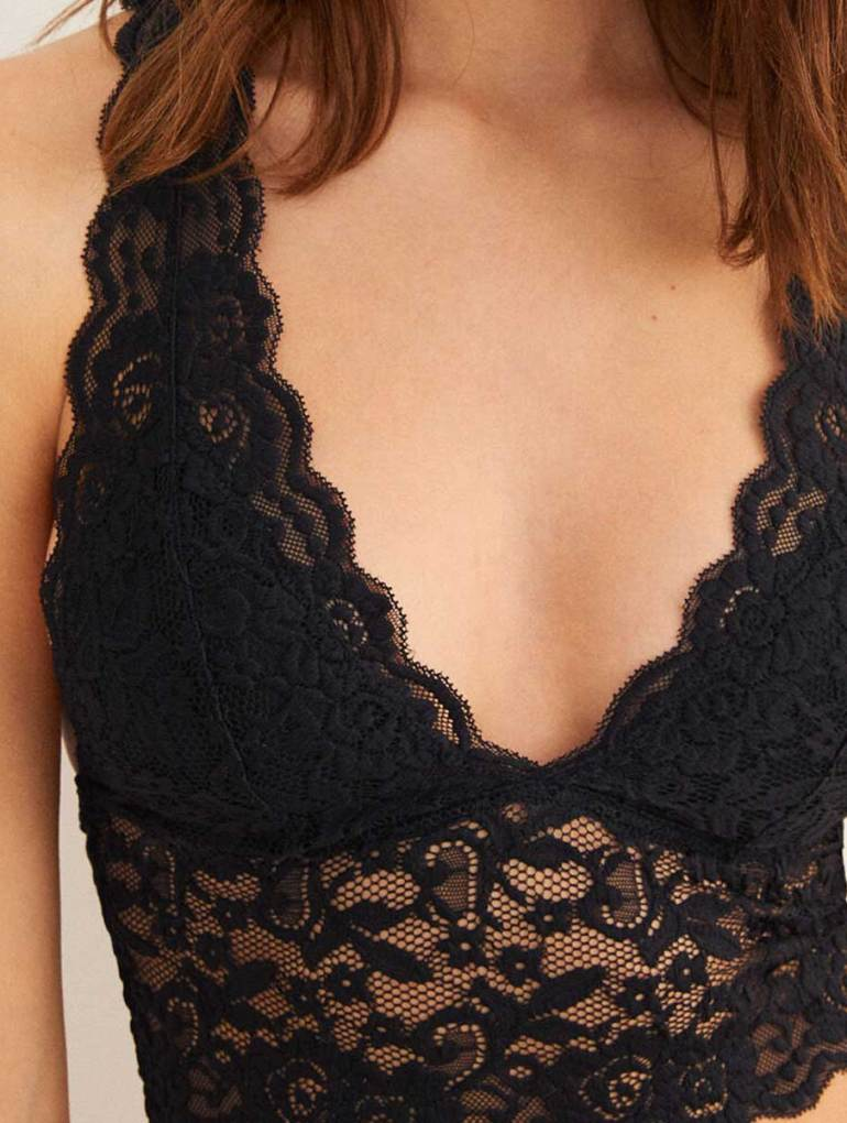 Women'secret Racer Back Lace Bralette Review The Fashion Request