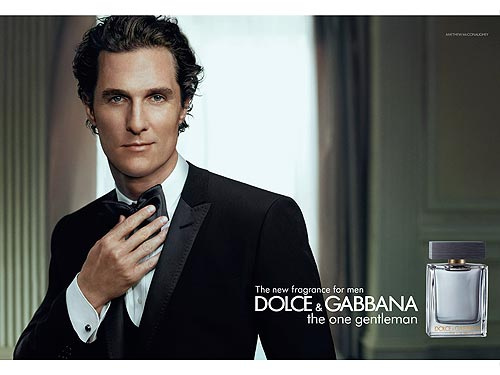 Matthew McConaughey for Dolce & Gabbana The One Gentleman Frangrance