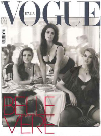 Plus Size Models on Vogue Italia Cover