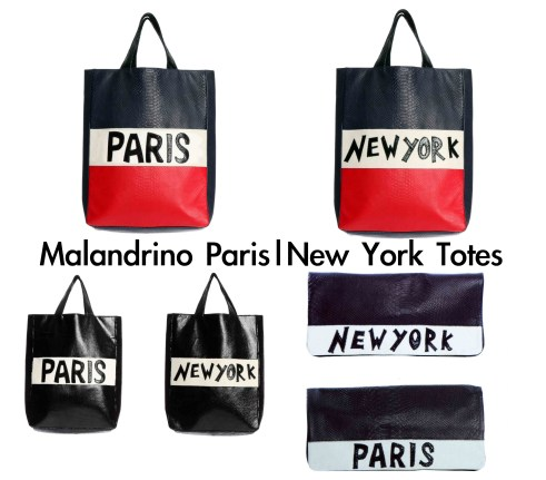 malandrino Paris|New York Totes