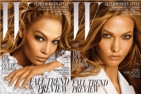 Karlie Kloss and Joan Smalls Land Joint W Cover