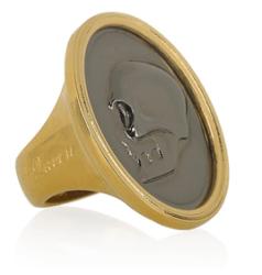 Alexander McQueen Goldtone Cameo Ring