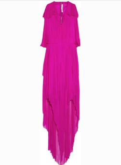 willow draped silk tulle dress