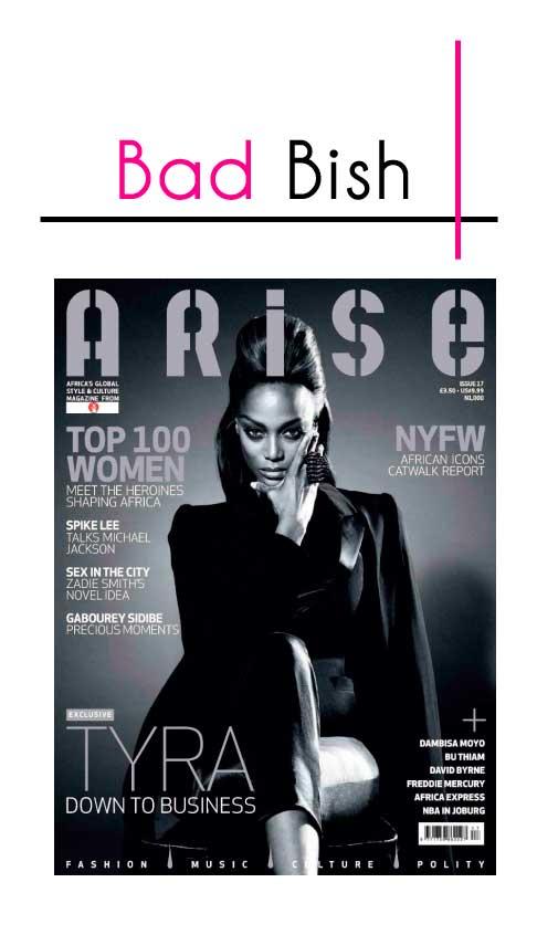 Tyra Banks for Arise Magazine