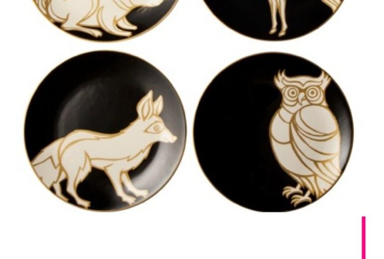 Patch Animal Print Dessert Plates