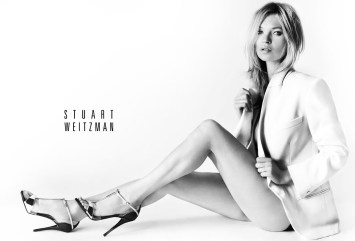 Kate Moss Debuts in Striking Stuart Weitzman Spring 2013 Campaign