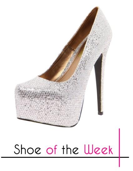 Melody Silver Shimmer Platform Heels