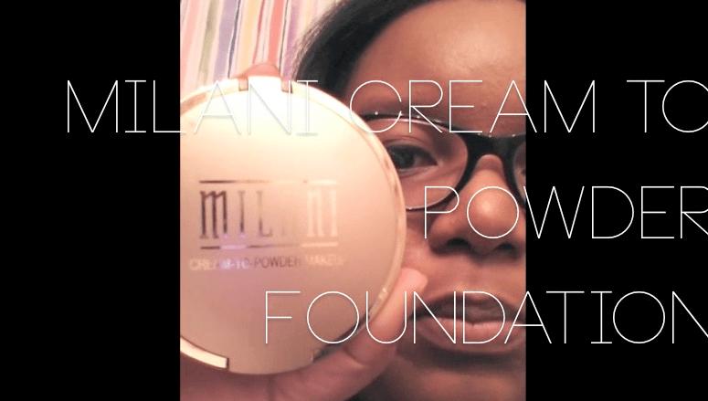 milani cream to powder foundation