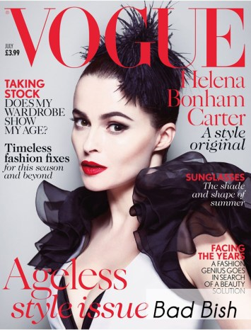Helena Bonham Carter Covers British Vogue