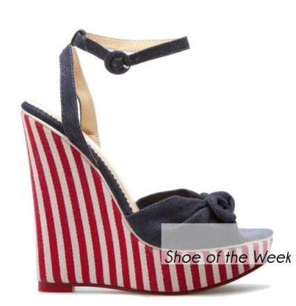 Shoedazzle Patriotic Bethylin Wedge