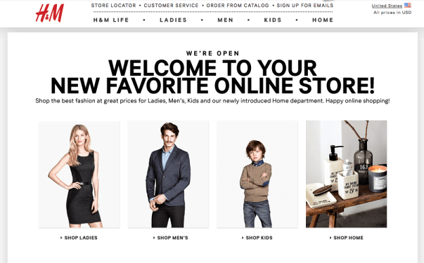 H&M Opens Online Store