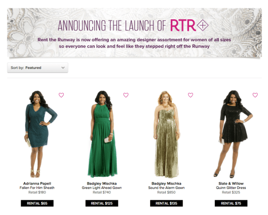 rent the runway plus