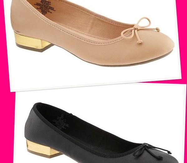 womens heeled ballet flats