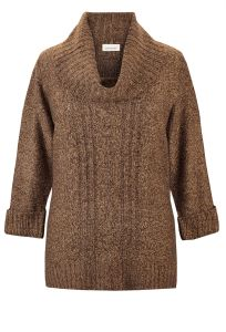 Figure 5 - Avenue - Marled Cowlneck Sweater $54.00