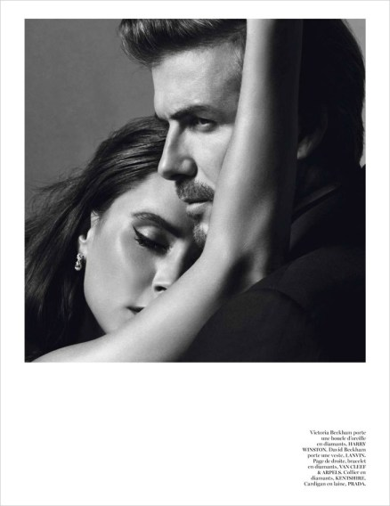 David and Victoria Beckham in Vogue Paris